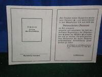 WWII German Waffen SS WELFARE System CASE WORKER ID Card Unissued