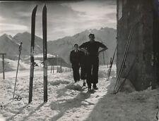 ALPES D'HUEZ c. 1938 - Skieurs Isère - NV 478