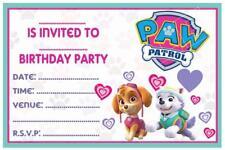 1 x PAW PATROL CHILDRENS GIRLS SKYE BLANK DIY BIRTHDAY INVITATIONS + MAGNETS