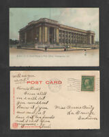 1911 US COURT HOUSE & POST OFFICE INDIANAPOLIS IND UDB UNDIVIDED BACK POSTCARD