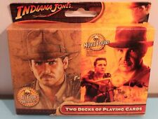 INDIANA JONES 2 DECKS PLAYING CARDS 4 Movies Raiders Crystal Skull Ford 2008 NEW