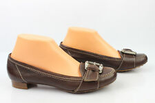 Mocassins Ballerines CAREL Paris Tout Cuir Marron T 37,5 EXCELLENT ETAT