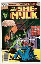 SAVAGE SHE-HULK #4 (VF/NM) Jennifer Walters! Newsstand Edition! TV Marvel 1980