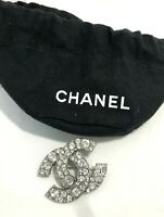 CHANEL CLASSIC CRYSTAL BROOCH, WITH POUCH
