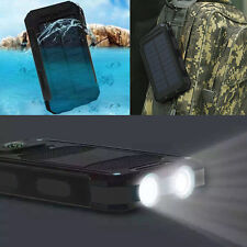 US 20000mAh Portable Dual USB Battery Charger Solar Power Bank for Smart Phone
