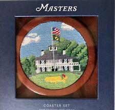 Masters Clubhouse Coaster Set of 4 Smathers & Branson Needlepoint 2019 NEW