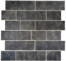 Mosaik Fliese Transluzent schwarz Mauerverbund Nero WB68-0349L  1Matte