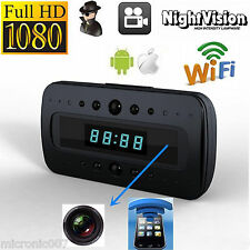 NEW WIRELESS WiFi NIGHT VISION SPY VIDEO CAMERA DVR IN ALARM CLOCK 1080p FULL HD
