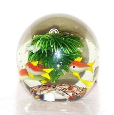 """DYNASTY GALLERY HEIRLOOM COLLECTIBLES AQUARIUM FISH ART GLASS 3 5/8"""" PAPERWEIGHT"""