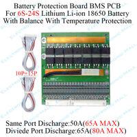 20S Lipo LiFePO4 Lithium Battery Protection Board Li-ion Smart BMS