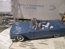 1958 Ford Thunderbird Convertible Danbury Mint 1195114000018 1:24 w/ box & title