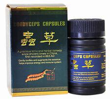 4 Bottiglie di Cordyceps Sinensis 30 Capsule Chong Cao Jiao Nang migliorare l'energia