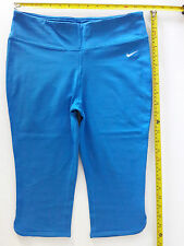 Nike Sz M - Dri- fit cropped tight pant legging - Cotton - Turquoise Blue