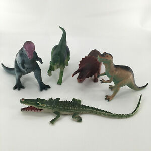 Vintage Mix Lot Of 5 Dinosaur Big Action Figure