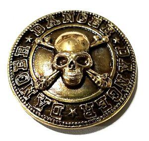 concho screw snap Skull cross bones Thunder bolt Gothic biker wallet trucker