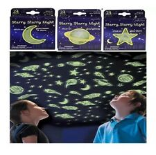 NEW Glow In The Dark Stick On Stars Planets and Moons - 3 packs / 72 pieces