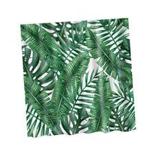 Shower Curtain NATURE Print Bathroom Liner Fabric Sheer Panel + 12 Hook Set
