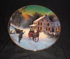 Home for The Holidays Avon Christmas Collector Plate 1988