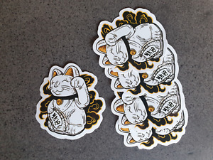 Lucky Cat style sticker pack x 5
