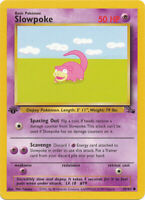 Slowpoke Common Pokemon Card 1st Edition Fossil Series 55/62