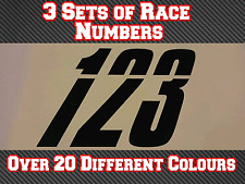 Race Numbers 3 Sets Motocross Custom Vinyl Stickers Decals MX  Dirt Bike N31