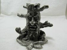 """Wizard Tree Pewter Incense Holder 3"""" Tall"""
