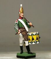 Painted Tin Toy Soldier Drummer of the Pavlovsky Regiment 54mm 1/32