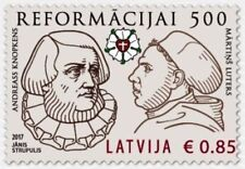 NEW Latvia  LETTLAND 2017 church Reformation - 500 years Luther and Knopke  MNH