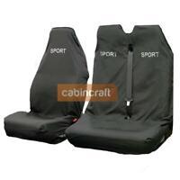 Ford Transit Custom Semi Tailored Waterproof Seat Covers Black Sport MY12 onward