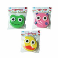 Baby Bath  Wash  Sponge Animal Faces Children Bath Time Fun one