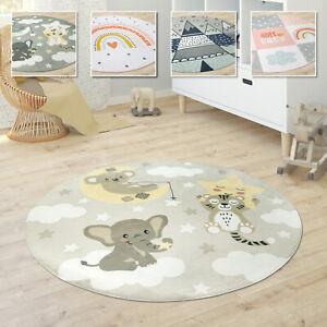 Kinderteppich Teppich Rund Kinderzimmer Spielmatte Babymatte Stern Mond Elefant