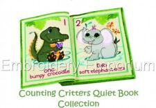 COUNTING CRITTERS QUIET BOOK COLLECTION -MACHINE EMBROIDERY DESIGNS ON CD OR USB