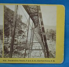 1860/70s Stereoview 2113 Frankenstein Trestle Crawford Notch P&ORR Kilburn USA