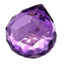 Hanging Natural Purple Suncatcher Crystal Ball Prism Lighting Pendants 30mm HY