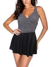 NWT Womens Polka Dot MIRACLESUIT Aurora SWIMDRESS Swimsuit Size 8 Free Shipping