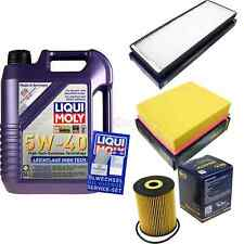 Inspection Kit Filter Liqui Moly Oil 5 L 5W-40 for Audi A4 8D2 B5 1.9 Tdi