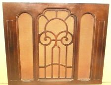 "vintage* CROSLEY part:  WOOD GRILL & CLOTH for 17& 1/4"" SPEAKER CABINET CONSOLE"