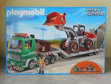 Playmobil City Action 5026 - Camion Remorque Chargeur Chantier - Boîte NEUVE