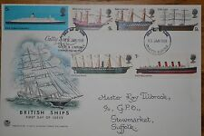January 1969; First Day Stuart Cover; British Ships; Excellent Condition