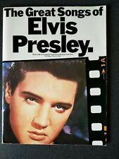THE GREAT SONGS OF ELVIS PRESLEY SHEET MUSIC BOOK