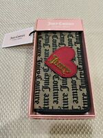 NWT Juicy Couture Cross My Heart Wallet Brown Zipper Beige Black Gothic