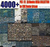 4000+ pcs 3D Model STL Collection Picture Decor Animal for CNC Artcam 3d printer