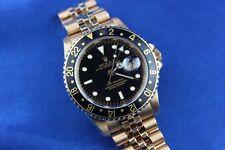 Rolex GMT Master 18K Yellow Gold 8 Million Serial Men's Watch 16758
