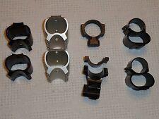 LOT OF 8 MISC STYLE BASE SCOPE RINGS matte black silver set Shotgun muzzleloader