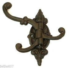 Coat Hat Towel Hook Cast Iron Rack Victorian Rustic Theme Hook
