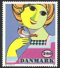 Denmark 1986 Art/Girl/Bird/Painting/Nature/Animation/Design/Artists 1v (n20255)
