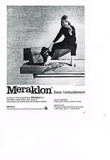 PUBLICITE ADVERTISING   1962   MERAKLON    canapé AIRBORNE