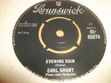"EARL GRANT "" SWINGIN' GENTLY / EVENING RAIN "" 7"" SINGLE JAZZ EXCELLENT 45-05870"