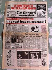 Le Canard Enchainé 21/02/1990; La bonne fortune de deux fils à papa ministre