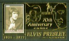 Liberia 2006 - Elvis Presley - Foto 1969 - Gold Folie - 70. Geburtstag -Nr. 5149